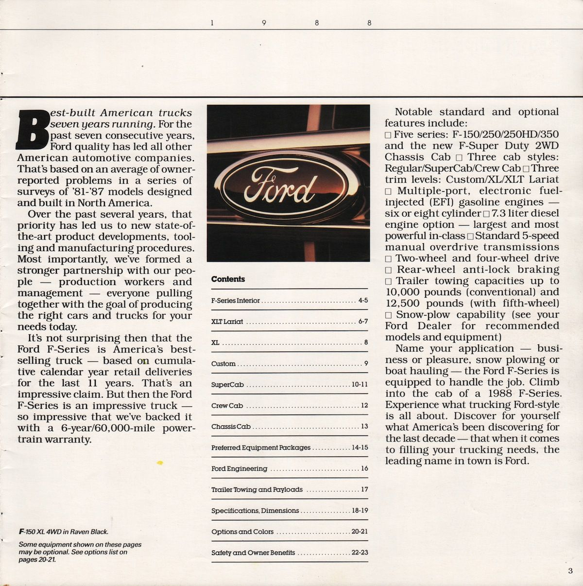Recreation Vehicles Ford Truck Sales Brochure  Ford F
