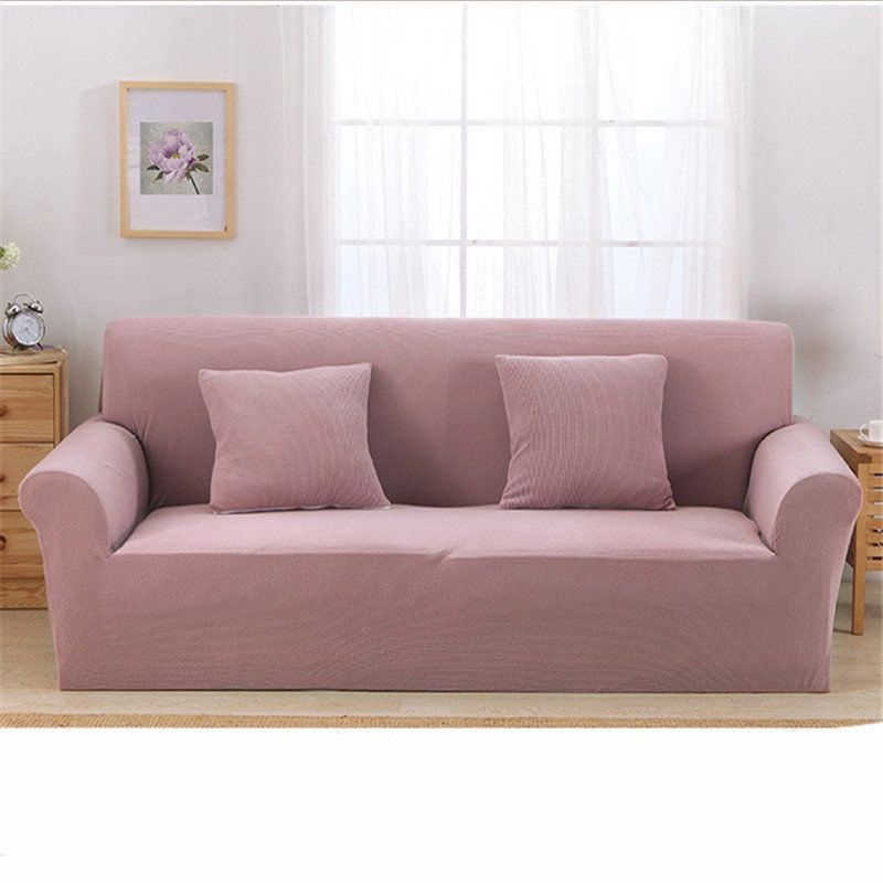 Jacquard Thickened Knit Sofa Covers Polyester Spandex Fabric Slipcovers Solid Color Sofa Covers Lovely Sofas Sofa