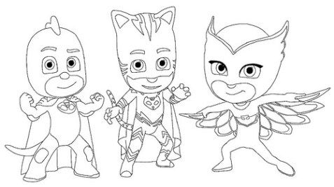 Dibujos e Imágenes de PJ Masks para Imprimir y Colorear | Decor ...