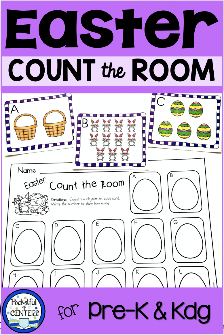 Easter Count The Room Easter Math Centers Kindergarten Easter Math Kindergarten Easter Math Preschool [ 1162 x 778 Pixel ]