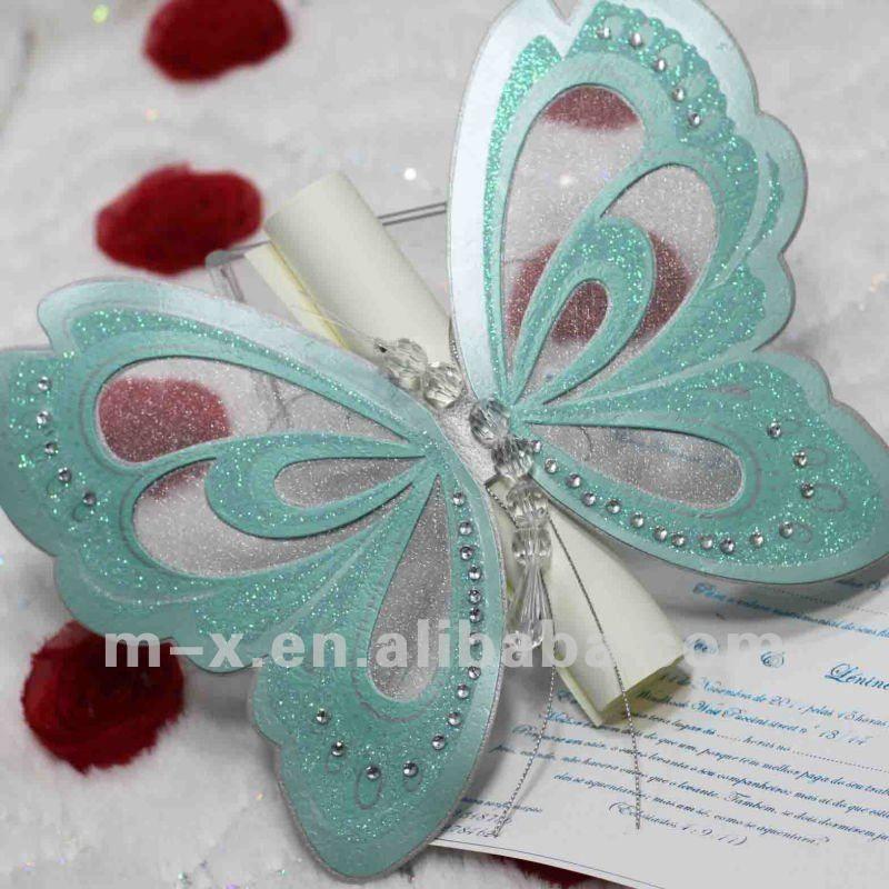 blue butterfly wedding invitaion | wedding ideas | Pinterest ...