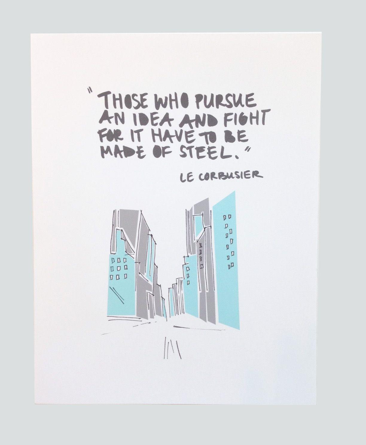 Elisabethkettmann Print Le Corbusier Quote 3 Intelligence
