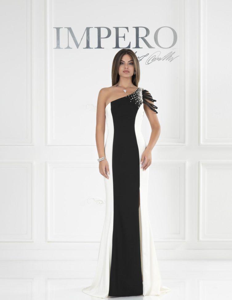 Vestiti Eleganti Bianco E Nero.Impero Couture Bu4490 Impero Couture Abiti Stile Di Moda