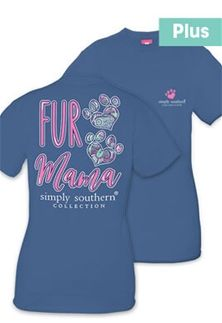 Simply Southern Plus Size Fur Mama T Shirt For Women In Moonrise