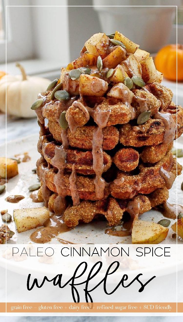 Cinnamon spice and everything nice! These paleo waffles are