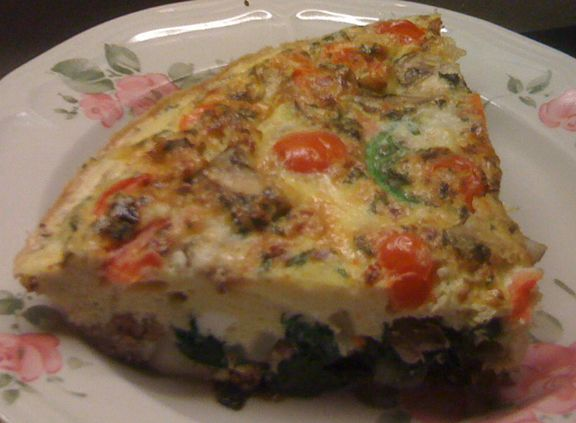 Spinach & Mushroom Frittata | fastPaleo Primal and Paleo Diet Recipes