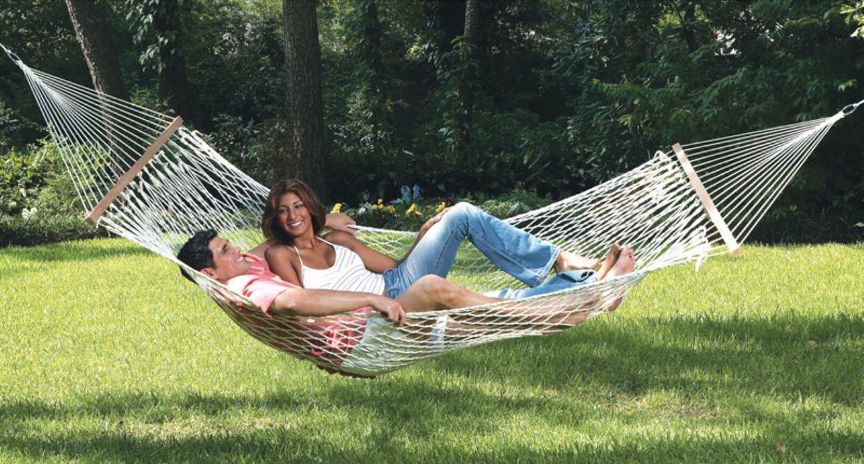 Camping ammock 1Person spreader outdoor patio yard deluxe hammock Swing