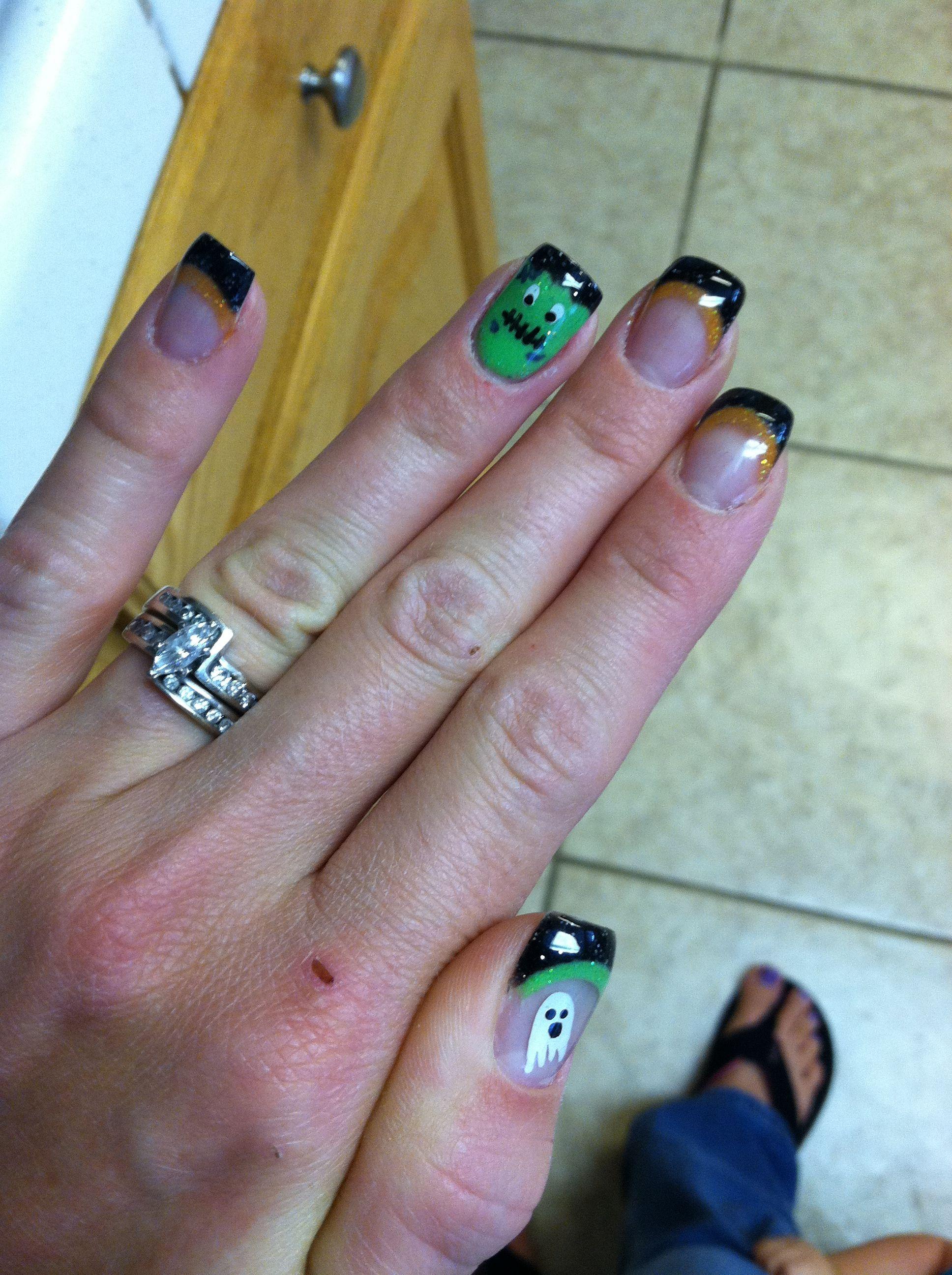 Halloween - cute!!!   Halloween nails, Gel nails, All ...