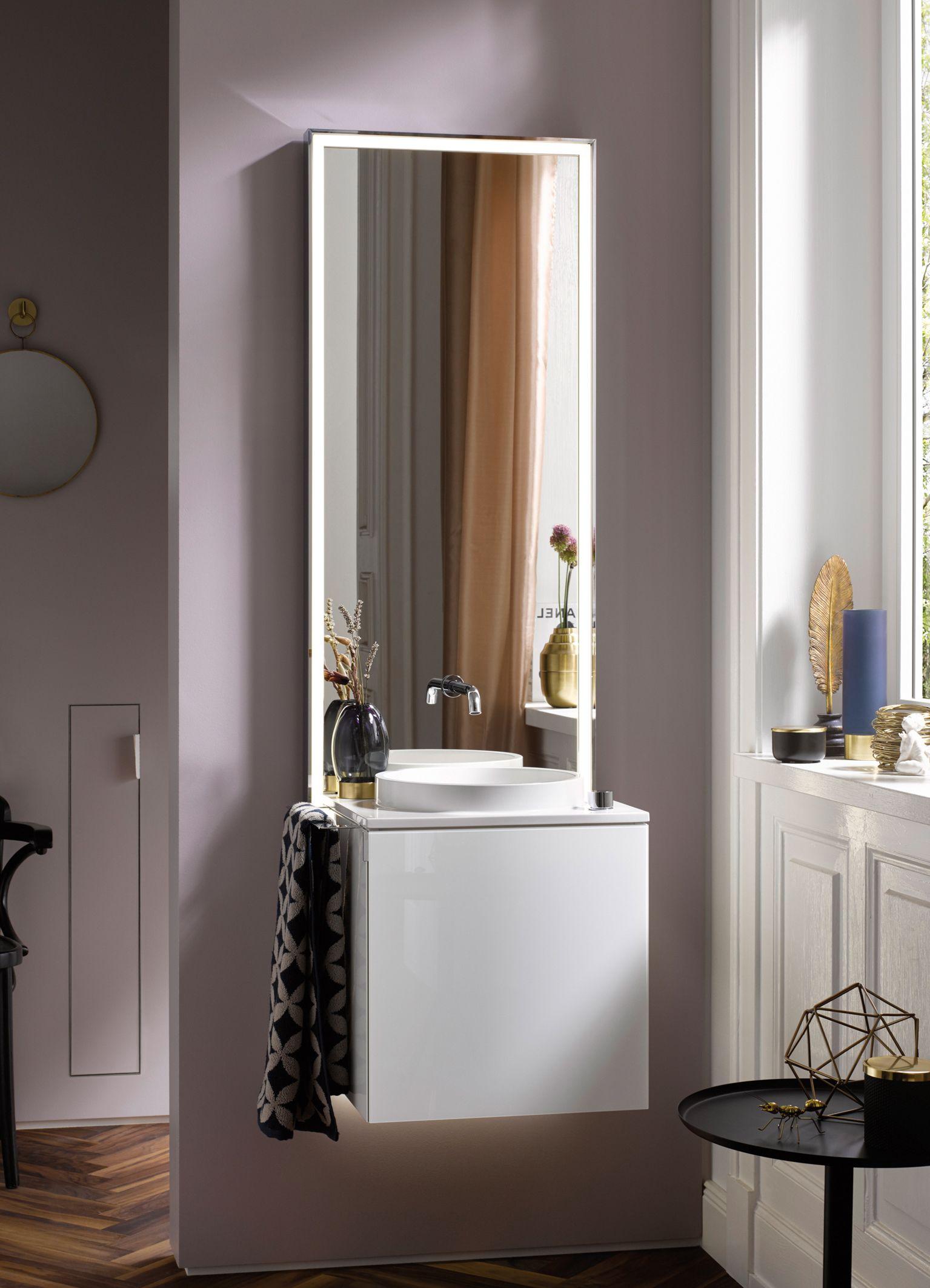 7a83089515b touch slim, minimalisme op zijn hoogtepunt. compleet badkamermeubel met  spiegel, kraan, LED