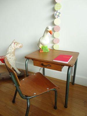 bureau ecolier bois bureau vintage enfant bureau chaise anne 50 enfant bambin - Chaise Annee 50