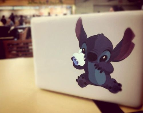 Imagen de stitch, apple, and disney