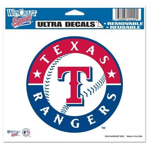 Texas Rangers 5 X6 Decal Texas Rangers Texas Rangers Logo Mlb Texas Rangers