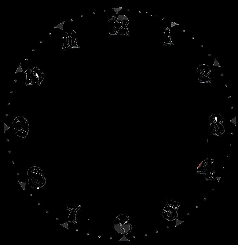 Часы циферблат картинка черно белая без стрелок