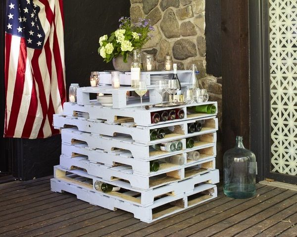 Pallet mobili ~ Bar counter itself build ideas euro pallets stacked all in white