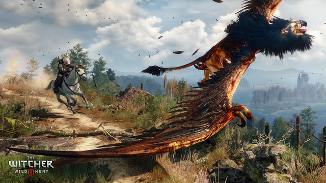 Witcher Wild Hunt Griffin Chase Png The Witcher Wild Hunt The Witcher 3 Witcher 3 Wild Hunt