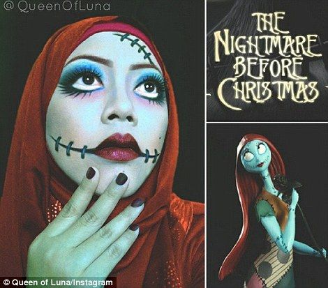 This Malaysian Artist Known As Queen Of Luna Transforms Herself - Makeup artist uses hijab to transform herself into disney characters