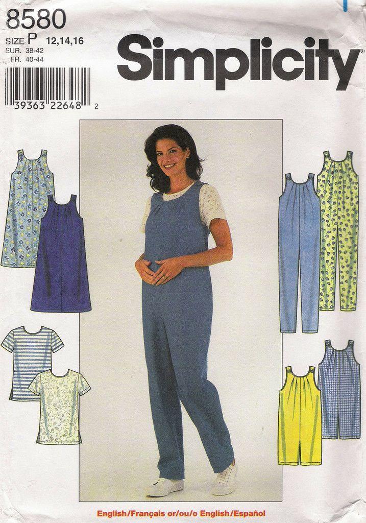 a2f19f0fde3 Simplicity 8580 Maternity Jumpsuit