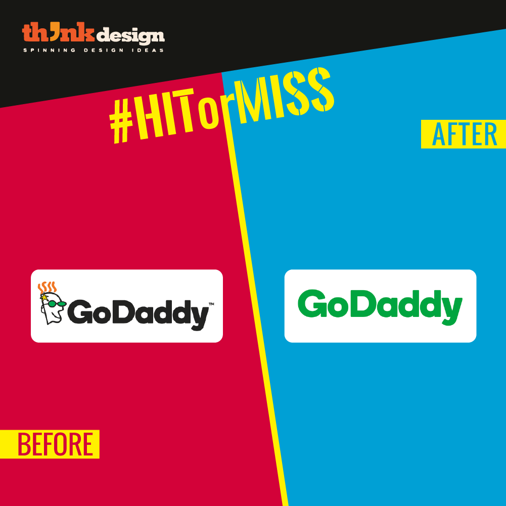 Godaddy S New Logo Proves It Weird Tech Branding Is Dead Tech Branding Branding Logos