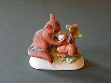 Vintage Enesco squirrel and baby figurine