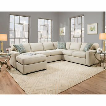 Incredible Rosemont Fabric Sectional Off White In 2019 Home Beige Pabps2019 Chair Design Images Pabps2019Com