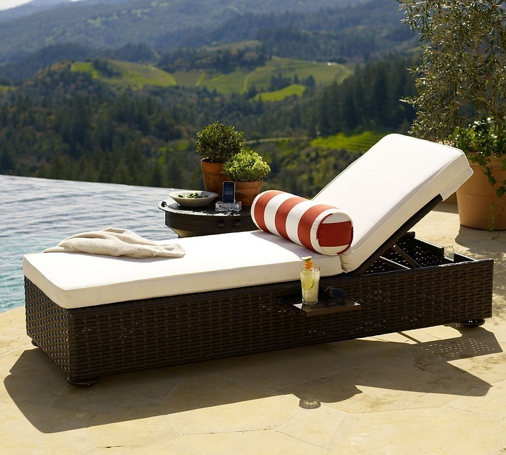 Good Corsica Single Rattan Wicker Chaise Lounge Chairs With