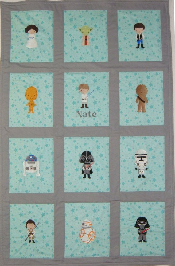 Your Design - Custom Embroidered Star Wars Baby Quilt/Blanket - 2 ...