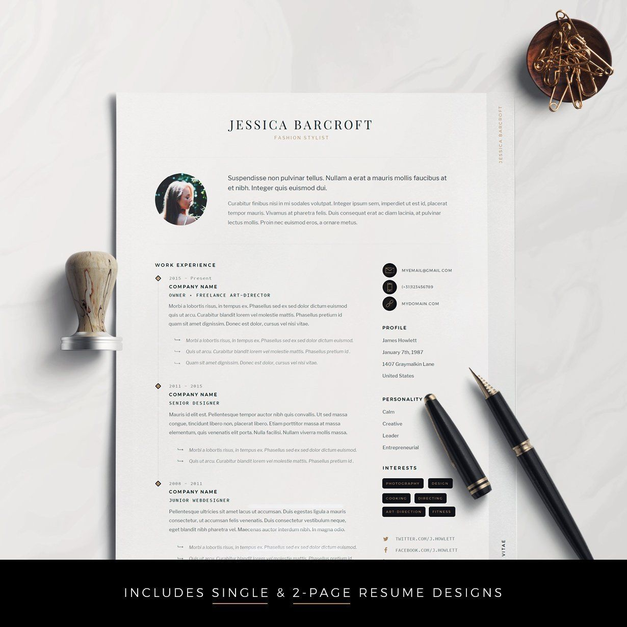 Resume Template Professional Resume Cv Template Modern Etsy Resume Design Resume Template Professional Resume Template Word