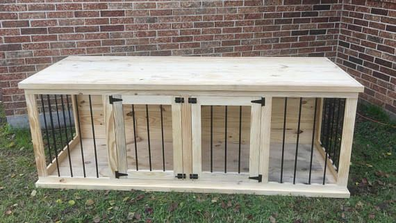 Pin By Jeff Lookabill On Wooden Dog Kennels In 2021 Dog Crate Furniture Custom Dog Kennel Wooden Dog Crate