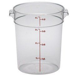 Cambro Camware Round Food Storage Containers 4 Qt Rfscw4 Category Food Storage Round Containers By Cambro 127 Food Storage Containers Cambro Food Storage