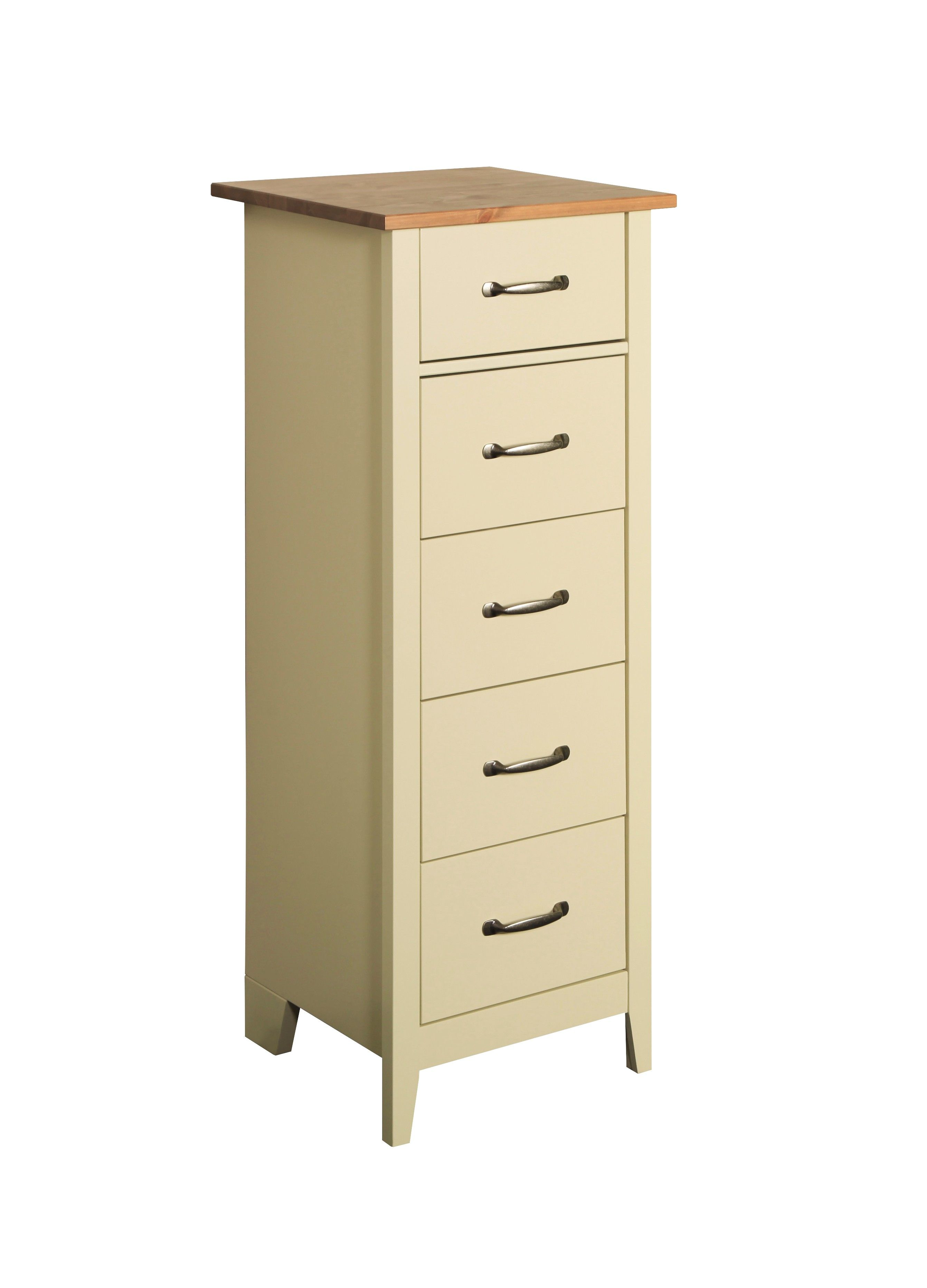 Best Steens Norfolk 5 Drawer Tall Narrow Chest Of Drawers In 400 x 300