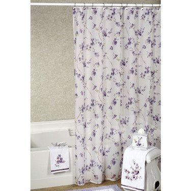 Pergola Floral Shower Accessories From Croscill Purple Shower