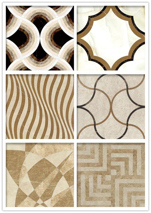 Italian Waterjet Beige Polished Marble Pattern Floor Design - Buy ...
