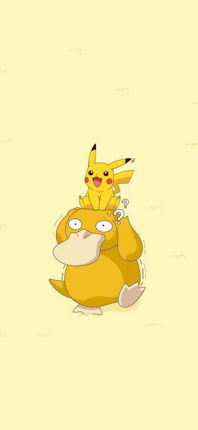 Pi Kaqiu Can Amount To Duck Animation Yellow Wallpapers For Iphone X Iphone Xs And Iphone Xs Max Cartoon