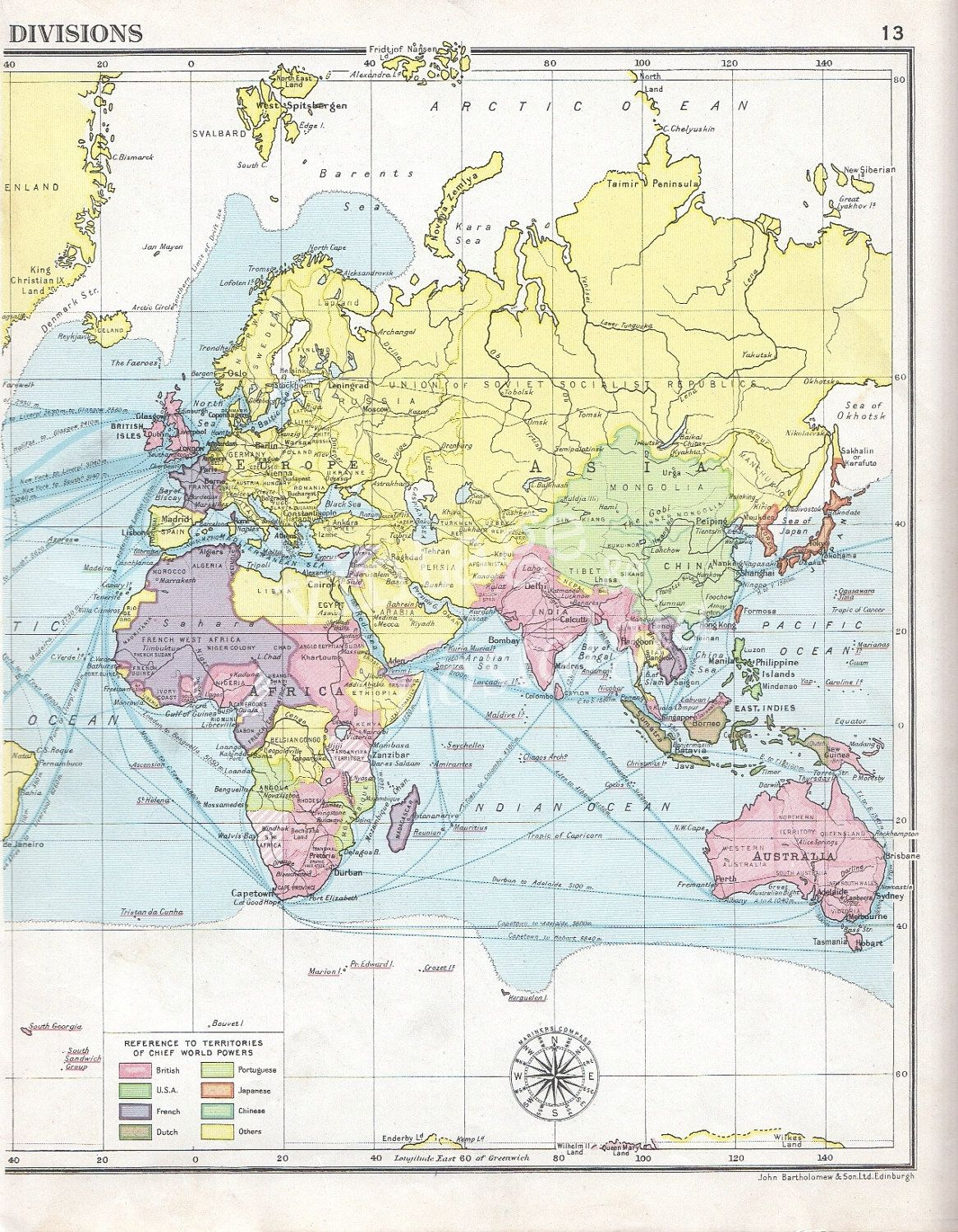1934 world map vintage world map transport routes wall map pastel 1934 world map vintage world map transport routes wall map pastel colours map decor 1895 gumiabroncs Gallery