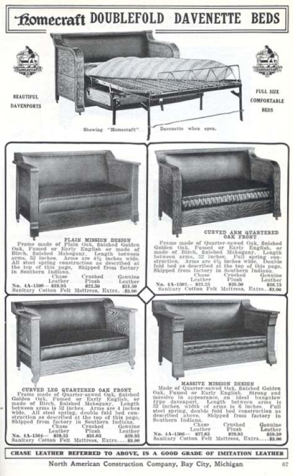 Fold Out Sofas In 1916 From The