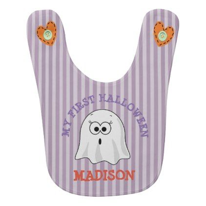 #My First Halloween Personalized Ghost Bib - #Halloween #happyhalloween #festival #party #holiday