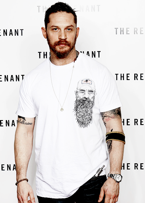 Tom Hardy attends BAFTA screening of 'The Revenant' at Empire Leicester Square in London on December 6, 2015