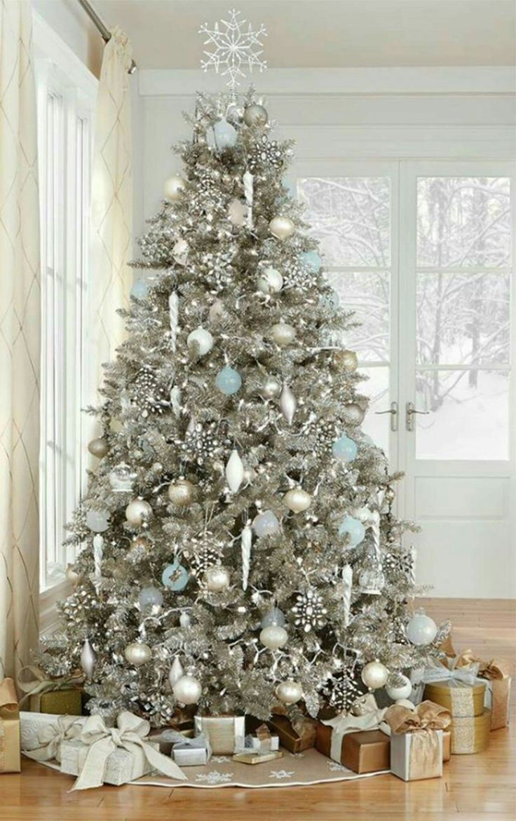 Christmas Home Decor Christmas Tree Inspo Elegant Christmas Trees Silver Christmas Tree Elegant Christmas Tree Decorations