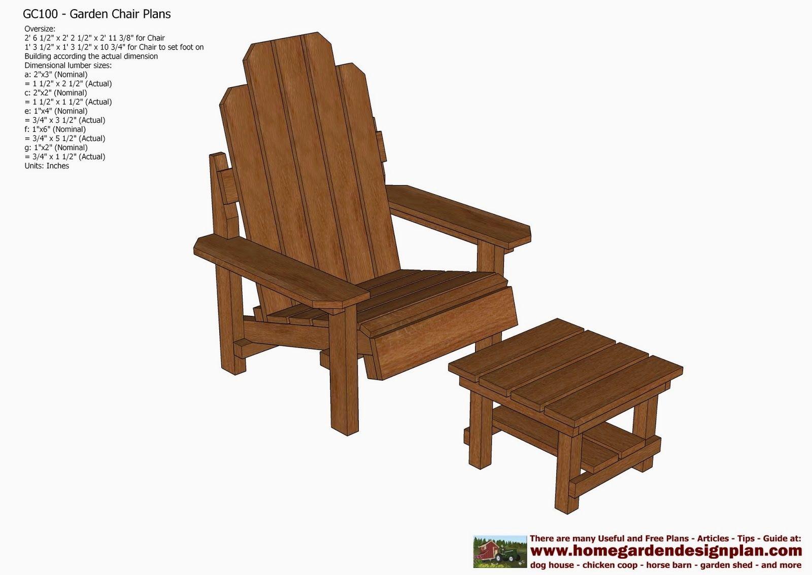 10 Garden Chair Plans Out Door Furniture Plans Woodworking