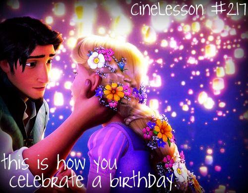 Yeah. I definitely want a birthday like Rapunzel's!