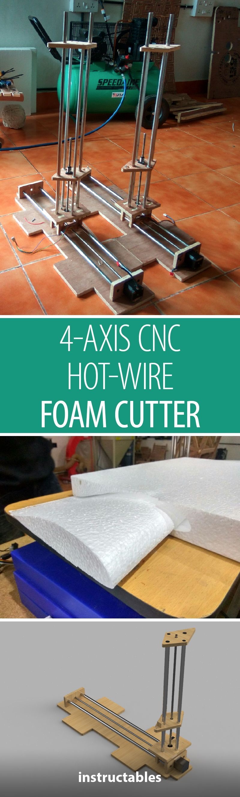 4 Axis Cnc Hot Wire Foam Cutter Arduino Ramps14 Tools To Make Design Diagram Pinterest And