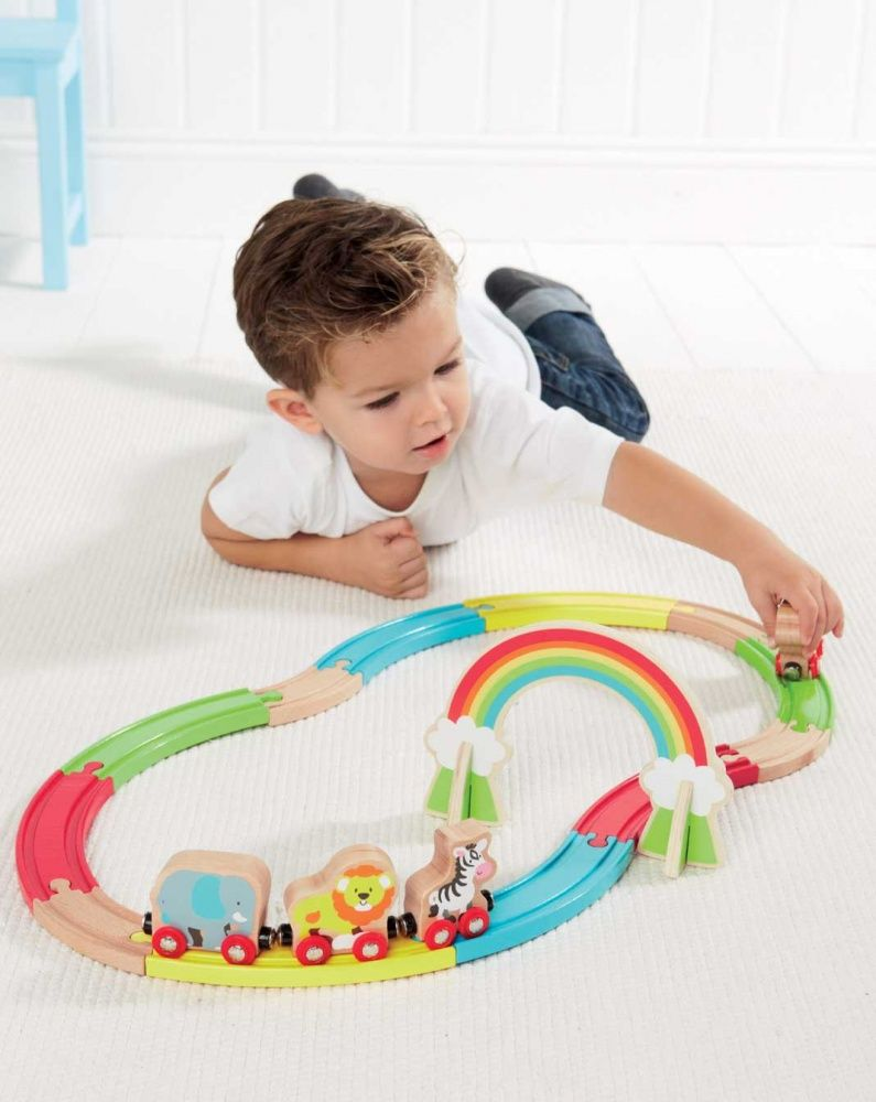 Elc Early Learning Centre Wooden Train Set Toys Pinterest