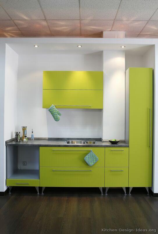 Modern Green Kitchen Cabinets #06 (Kitchen Design Ideas.org)