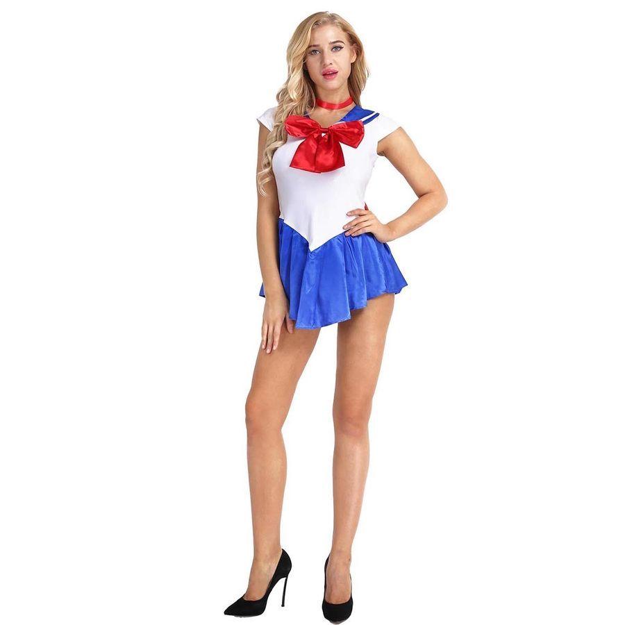 Sailor Moon Costume Cosplay Uniform Fancy Party Bra Top Briefs Halloween Costume
