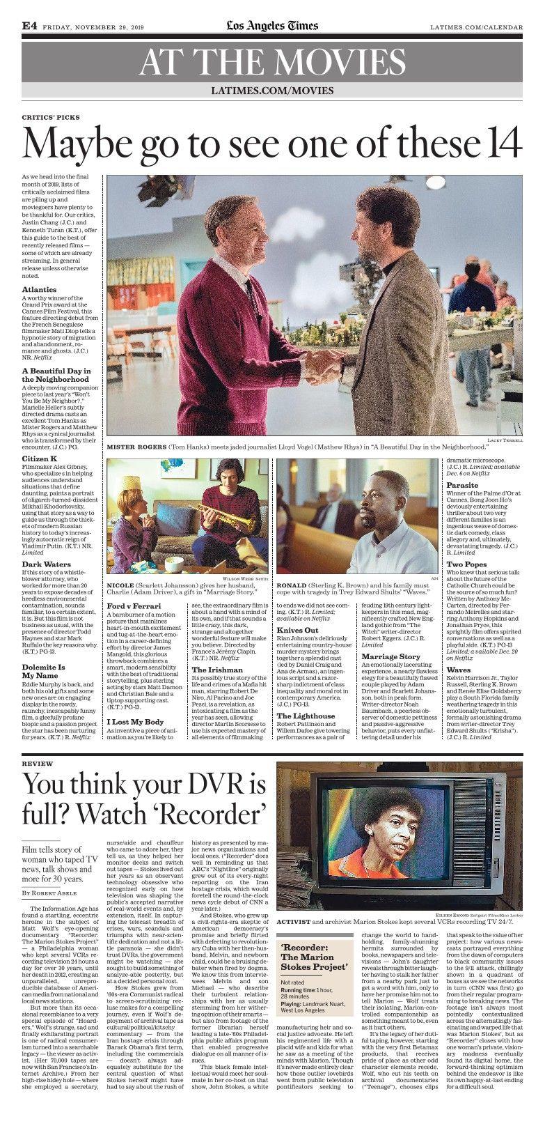 Los Angeles Times Enewspaper Los Angeles Angel Time