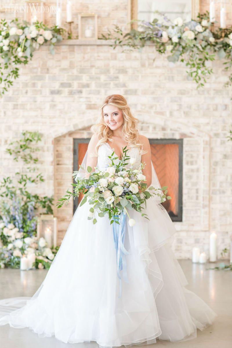 Dusty blue wedding ideas for spring wedding flowers pinterest