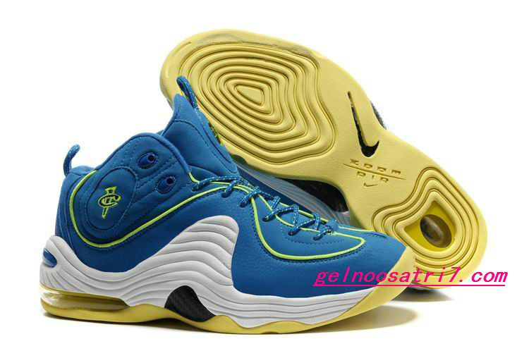new concept 5c5d1 f61ff Clearance Nike Air Max Penny II LE Men Soar Blue Cyber Green White