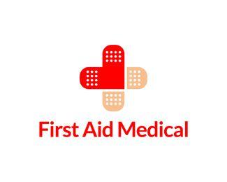 first aid medical logo design stylized medical cross