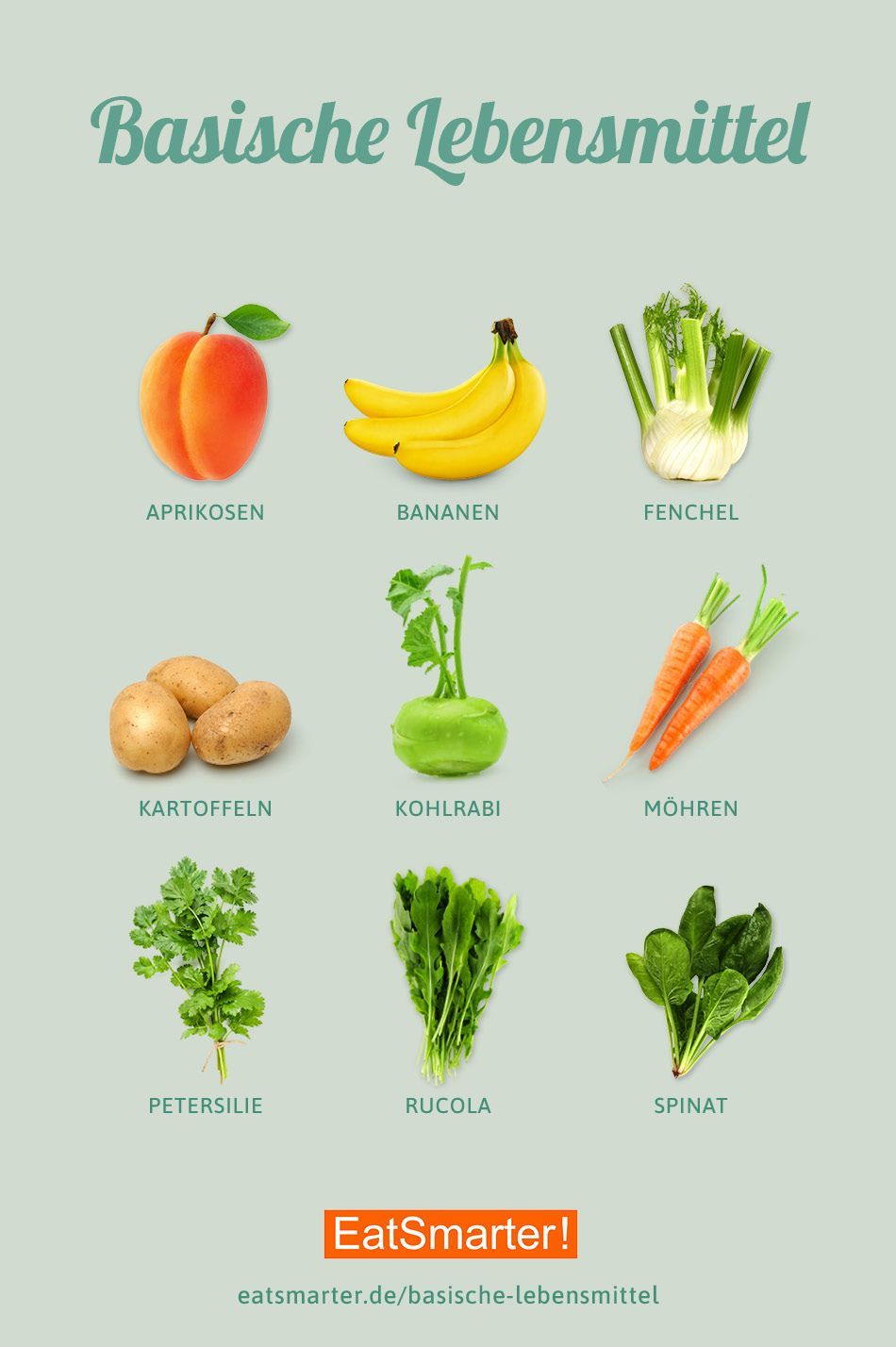 Top 9 Basische Lebensmittel #vitamins
