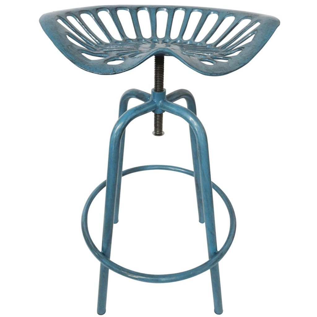 Esschert Design Tractor Seat Chair Blue Ih034 Metal Bar Stools Bar Stools Stool